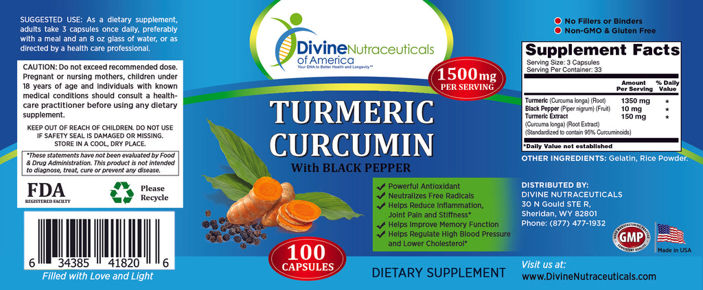 Turmeric Curcumin w/ Black Pepper 1500mg + Colon Cleanse Detox Kit