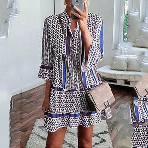 Candynana Printed Ruffled Shirt Mini Dress