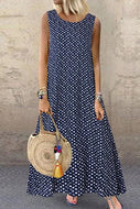 Candynana Sexy Polka Dot Sleeveless Long Dress