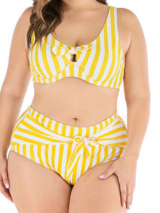 Striped sexy swimsuit