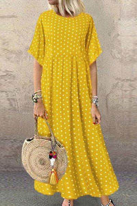 Candynana Polka dot small fresh large size womens long skirt