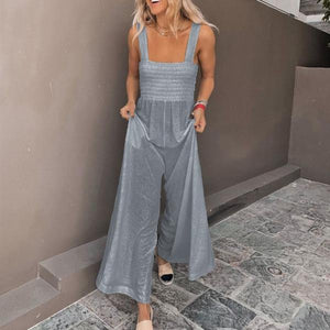 Candynana Fashion Solid Color Wide Leg Jumpsuit