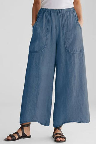 Candynana Cotton and Linen Bag Loose Wide Leg Casual Pants