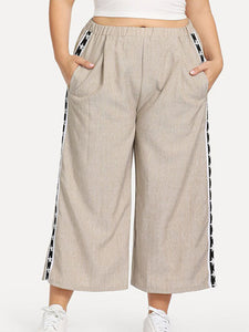 Candynana 9 points wide leg casual pants women