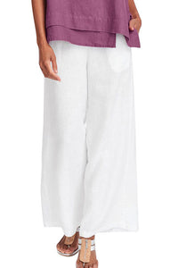 Candynana Loose cotton and linen wide-leg pants