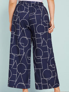 High waist straight leg loose wide leg trousers
