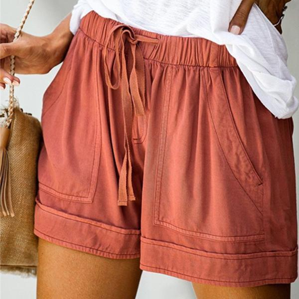 Candynana Elegant Casual Beach Straight Shorts
