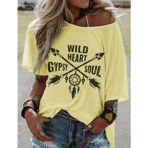 Candynana Casual Top Hippie Printed T Shirt
