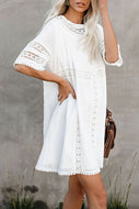 Candynana Wrinkled cloth and lace loose beach skirt
