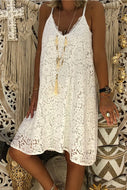 Candynana Sleeveless V-neck strap lace loose dress