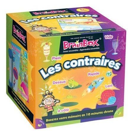 BrainBox : Les Contraires-Green Board Game Company-Jeu enfants