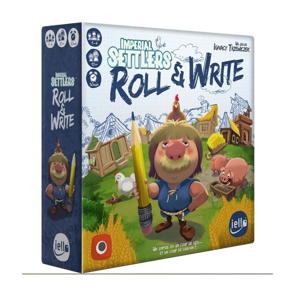 Imperial settlers: roll et write-Iello