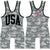 Made 4 U USA Digital Camo Wrestling Singlet