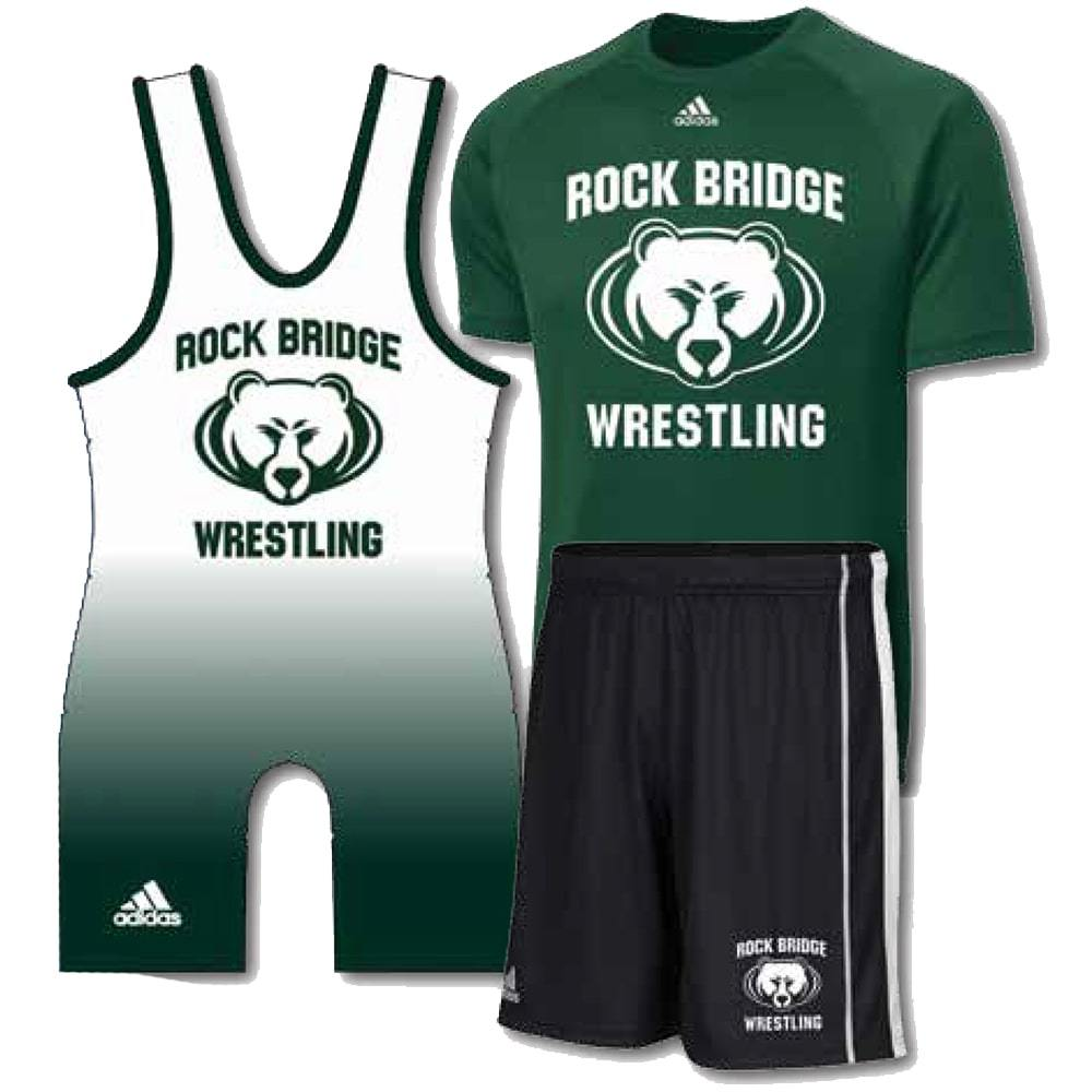 Adidas Pack #1 (Adidas Wrestling Singlet, Shirt, and Shorts Combo)