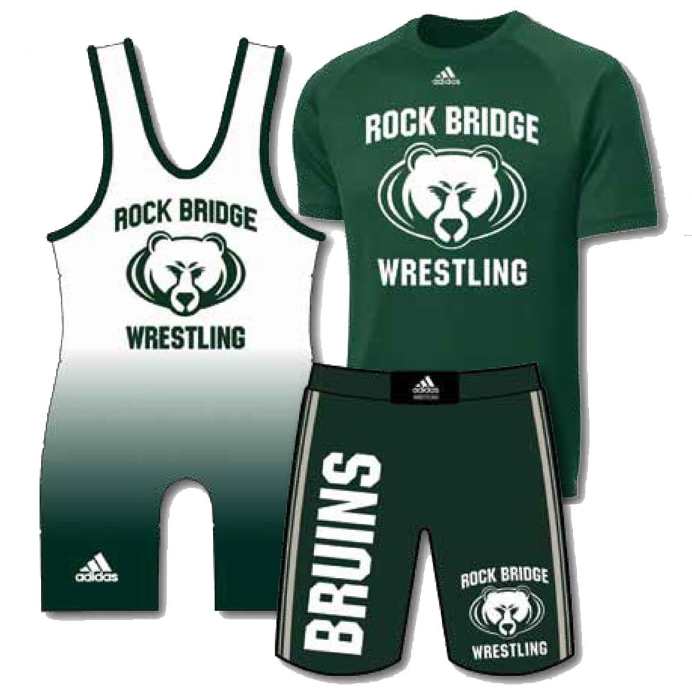 Adidas Pack #2 (Adidas Wrestling Singlet, Shirt, and Grappling Shorts Combo)