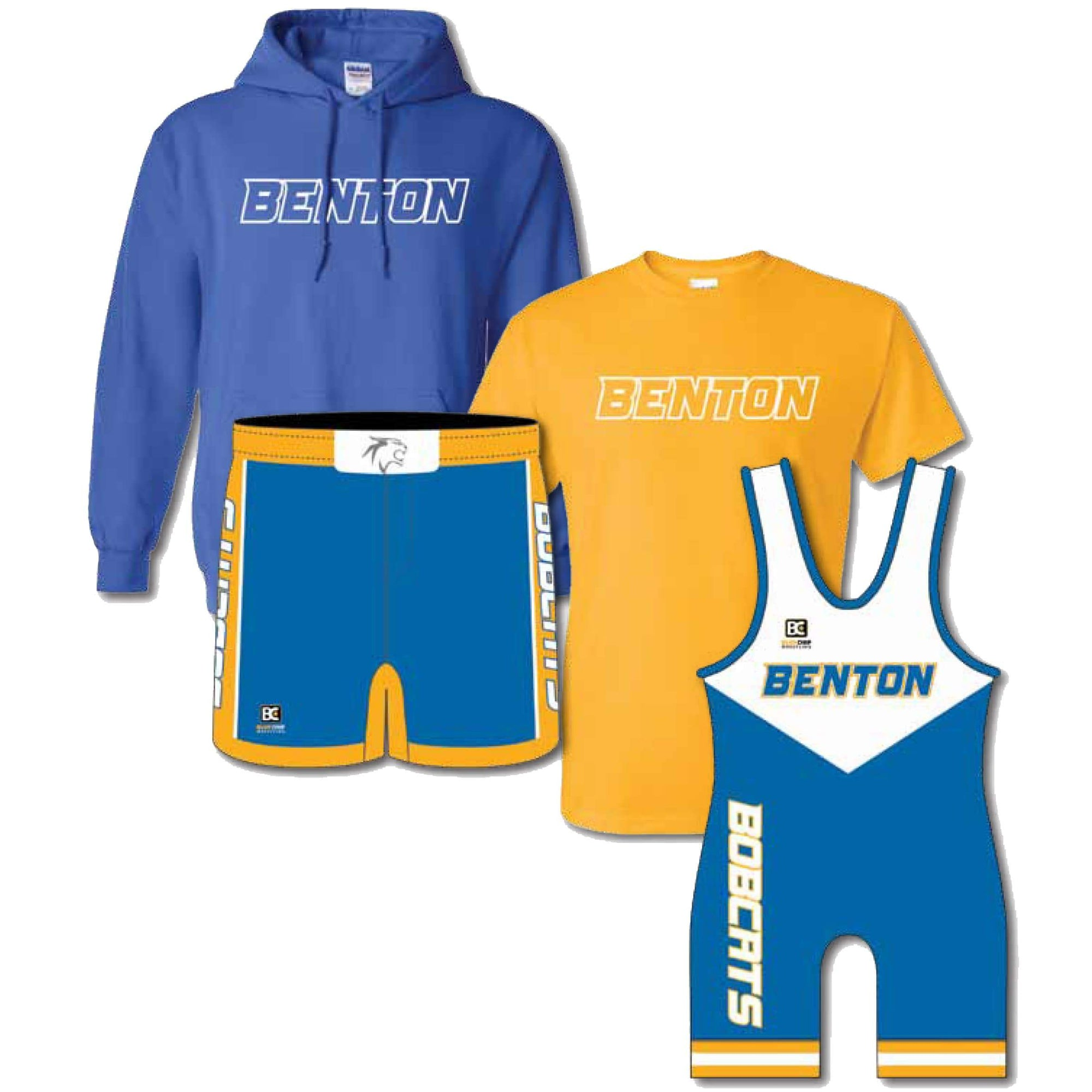 Competition Pack #6 (Tee + Hoodie + Singlet + Wrestling Short)