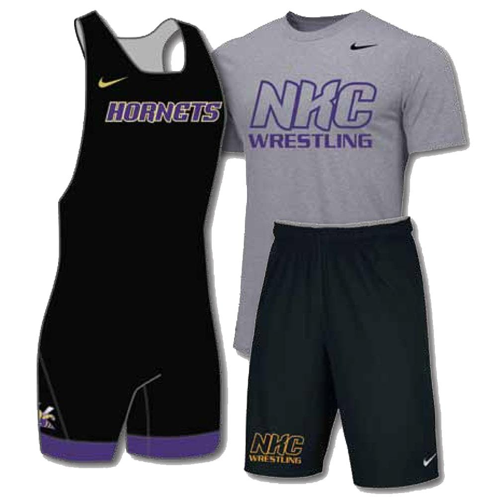Nike Pack # 2 (Nike Wrestling Singlet, Shirt, and Shorts Combo)