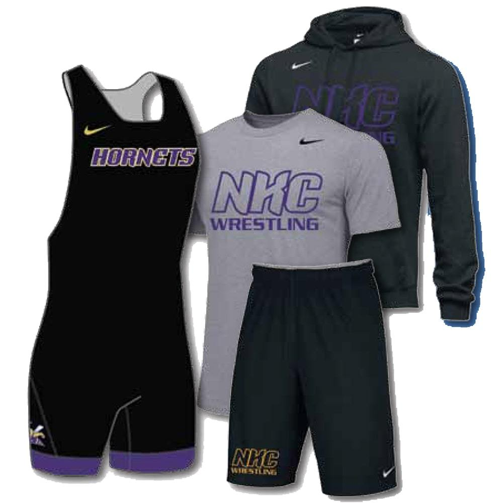 Nike Pack #3 (Nike Wrestling Singlet, Tee, Hoodie, and Shorts Combo)