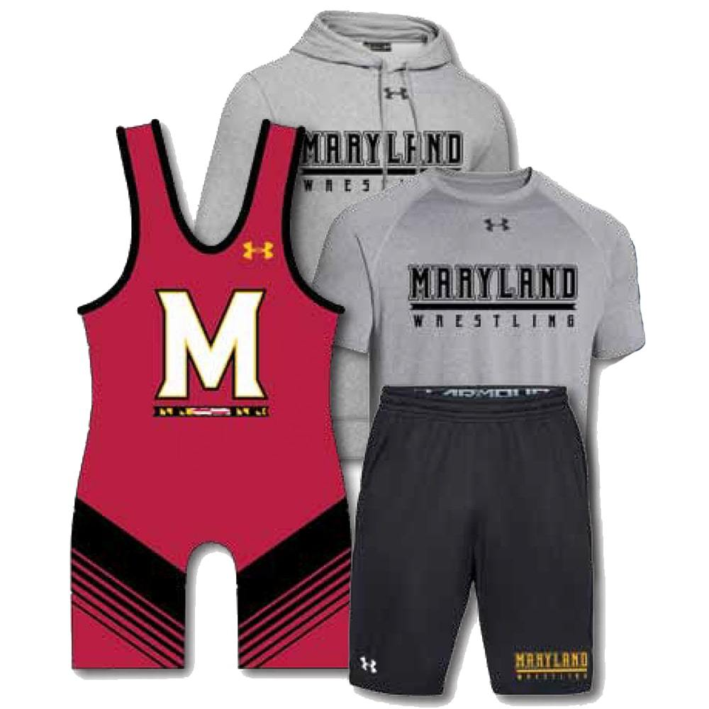 Under Armour Pack #5 (Under Armour Wrestling Singlet, Shirt, Hoodie and Shorts Combo)