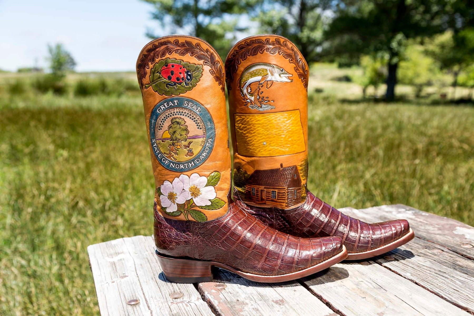 North Dakota State Boot