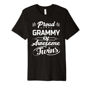 Proud Grammy Of Awesome Twins Shirt Gift For Grammy