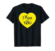 Afbeelding in Gallery-weergave laden, I'll Go With You TOP Yellow Heart Love T-Shirt