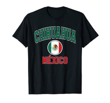Afbeelding in Gallery-weergave laden, Chihuahua T Shirt - Varsity Style Mexico Flag