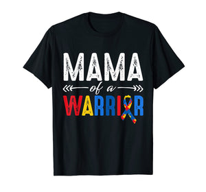 Mama of a Warrior Autism Awareness T-shirt Gift for Women