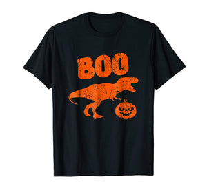 T Rex Dinosaur Pumpkin Unique Funny Halloween T Shirt