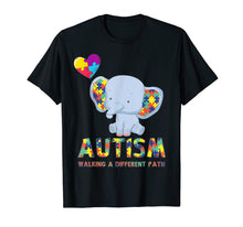 Afbeelding in Gallery-weergave laden, Autism Elephant Walking A Different Path T Shirt For Kids