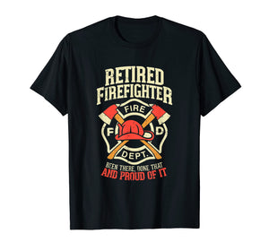 Mens Heroic Retired Firefighter T Shirt Fireman Gift Idea