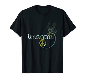 Dragonfly Imagine Hippie T Shirt For Women Men