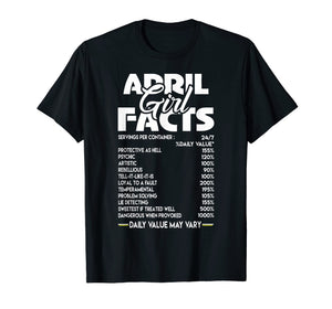 April Girl Facts T-shirt