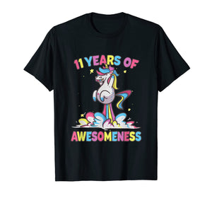 11th Birthday Girl Unicorn Shirt Gifts Age 11 Niece Daughter