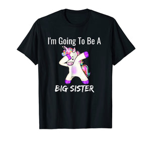 I'm Going to be a Big Sister Girls Cute Unicorn T-Shirt