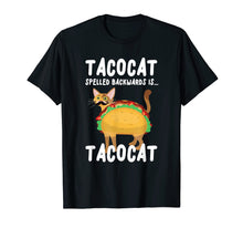 Afbeelding in Gallery-weergave laden, Tacocat Spelled Backwards Is Tacocat T-Shirt Funny Taco Cat