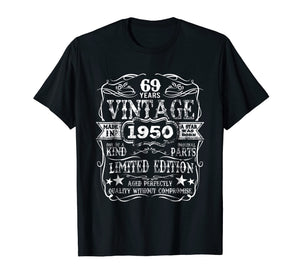 Made In 1950 69 Years Old Vintage 69th Birthday Gift T-Shirt