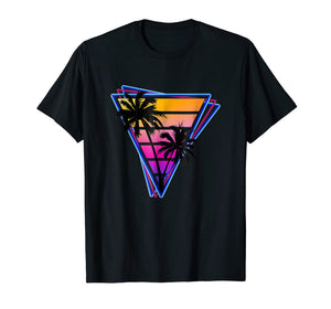 Synthwave Triangle Design
