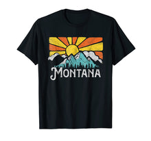 Afbeelding in Gallery-weergave laden, Montana Retro Mountains & Sun Eighties Style Vintage Shirt