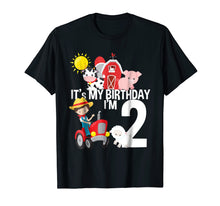 Afbeelding in Gallery-weergave laden, It's My Birthday Farm Theme Birthday Gift 2 Yrs Old Shirt