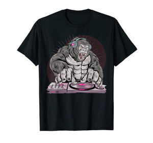 Men's T Shirt Tee Dished DJ Gorilla for Youth