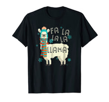 Afbeelding in Gallery-weergave laden, Fa La La La Llama T-Shirt - Cute Llama Christmas Shirt