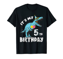Afbeelding in Gallery-weergave laden, It's My 5th Birthday Dinosaur Party Shirt for Boy Age 5