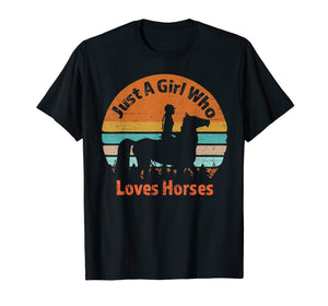 Just A Girl Who Loves Riding English Horses T-shirt Gifts