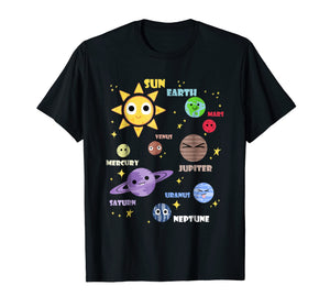Cute Solar System Shirt Kids Toddlers Astronomy