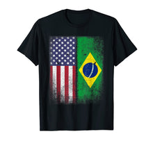 Afbeelding in Gallery-weergave laden, Brazil Usa Flag Brazilian American Gift Bandeira do Brasil L
