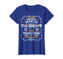 Afbeelding in Gallery-weergave laden, March 1959 60th Birthday T-Shirt Vintage 60 Years Old Gift