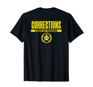 Indiana Correctional Officer Thin Gray Line Flag T-Shirt