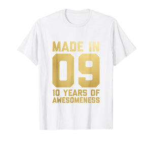 10th Birthday Shirt Gift Ten Age 10 Year Old Boys Girls Son