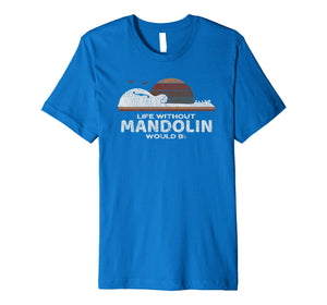 Mandolin Distressed T-Shirt : Gift for Mando Lovers